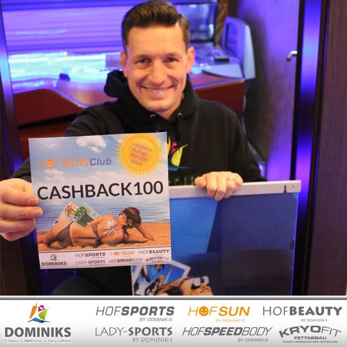 CASHBACK100 – Neujahrsangebot – HofSun