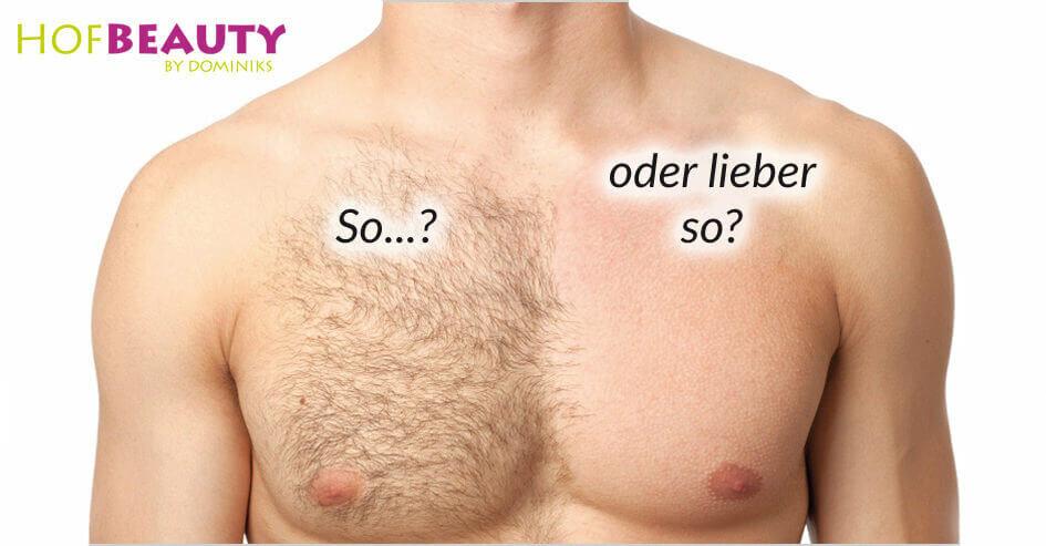 Brusthaare dauerhaft enfternen