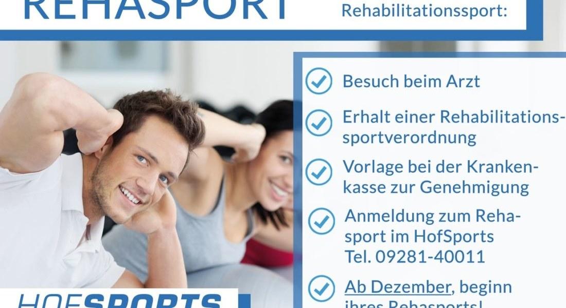 Ab Januar – REHASPORT im HofSports