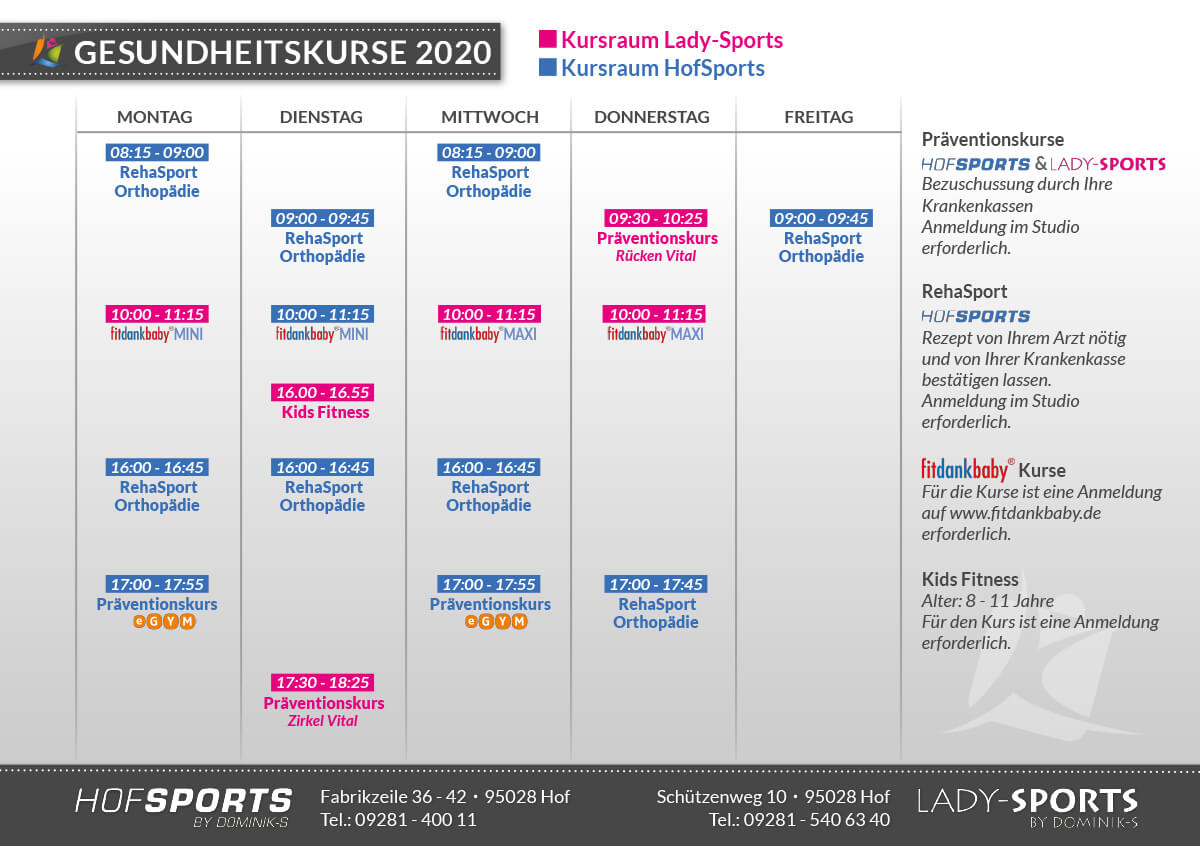 Gesundheitskurse 2020