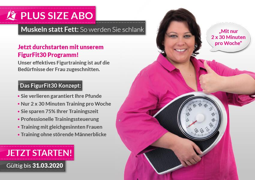 Fitnessstudios - PlusSizeAbo - FigurFit30