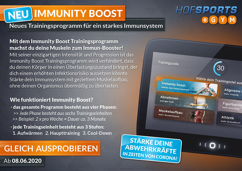 NEUES TRAININGSPROGRAMM: IMMUNITY BOOST