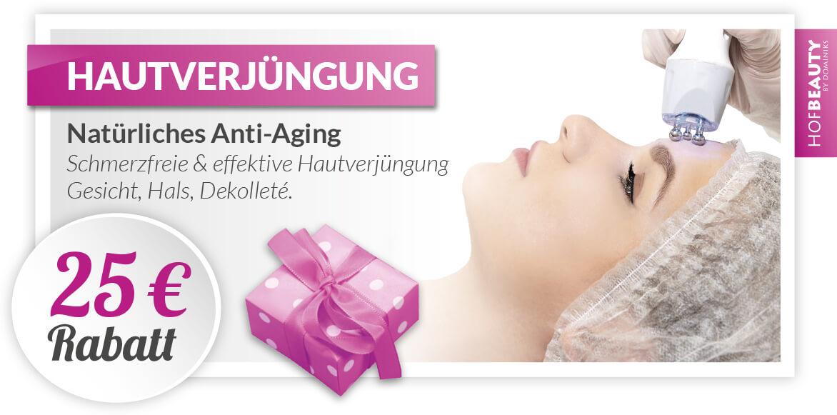 Kosmetikstudio-HofBeauty-Gutschein Hautverjuengung-25€-Rabatt