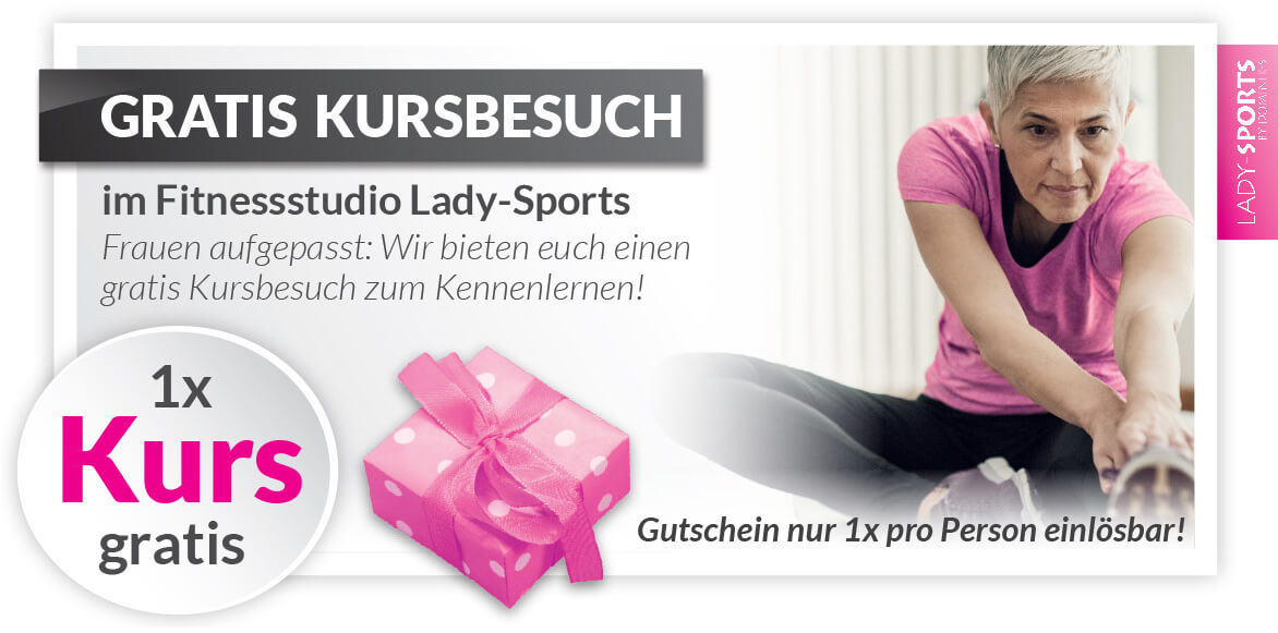 Fitnessstudio-Lady-Sports-Rabatt-Gutschein-gratis-Kursbesuch