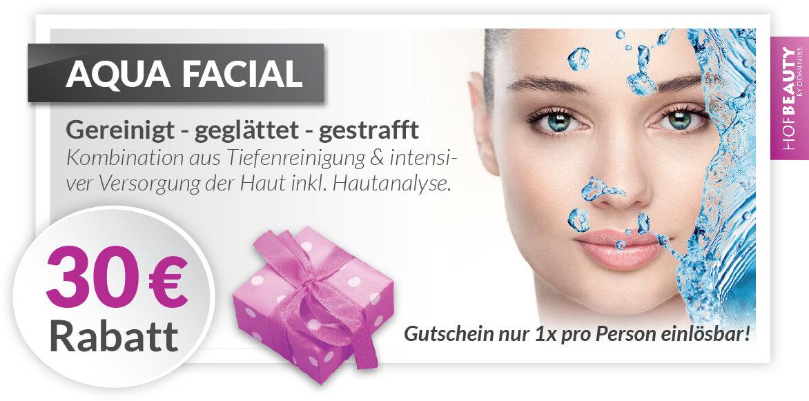 Rabatt Gutschein Aqua Facial - Kosmetikstudio HofBeauty in Hof