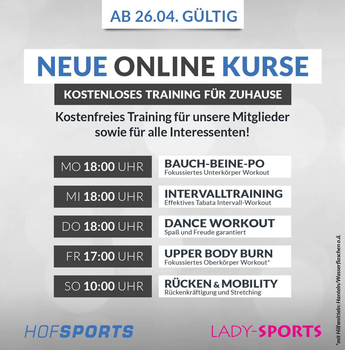 Neue Onmline Kurse ab 26.4.21 Dominik-s_Gesundheitsstudios-Fitnessstudios-Zoom Online Kurse