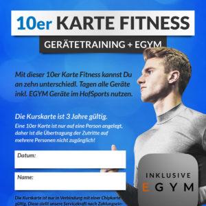 HofSports-10er-Kurskarte-Fitness-GeräteTraining+egym